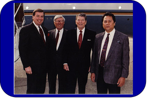 US President Ronald Reagan and Friends